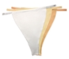 Neutral Solid - NO LACE (804) Set of 3 [White - Creme - Nude]